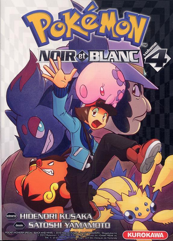 Pokémon Noir Et Blanc T4 Manga Chez Kurokawa De Kusaka